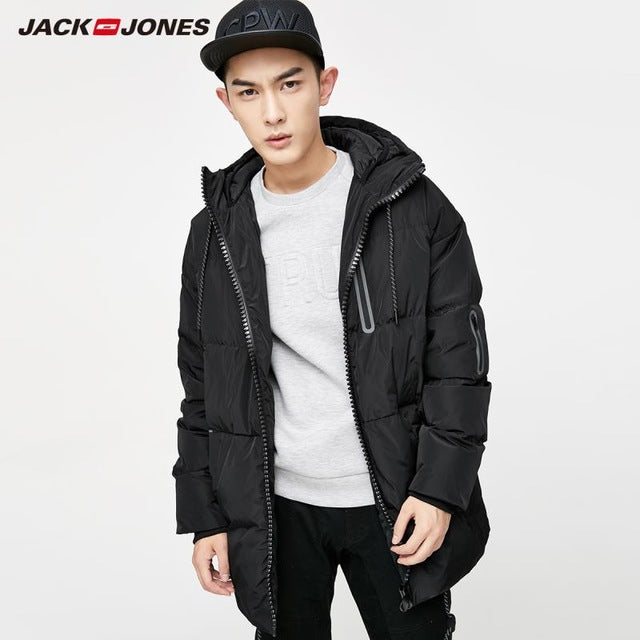 JackJones brand Men's Winter Hooded Duck Down fashion Coat