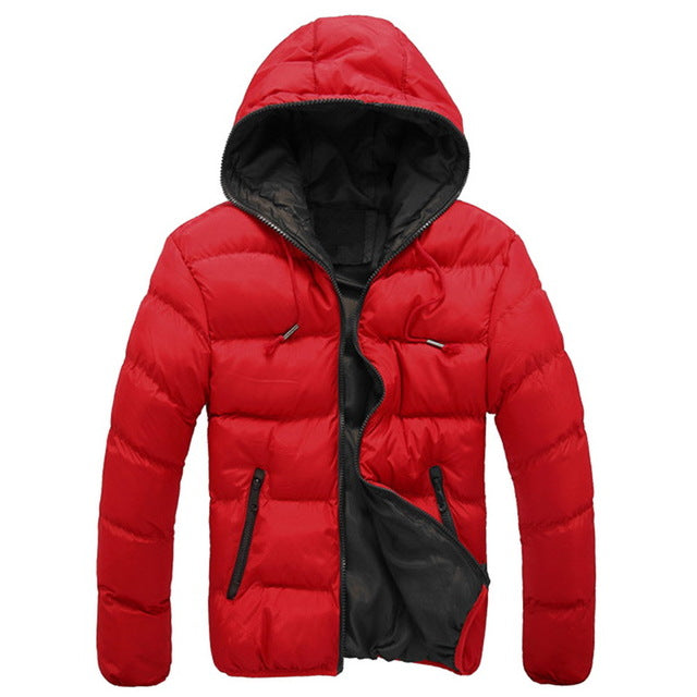 Men Parka Quality Autumn Winter Warm Slim Windbreaker