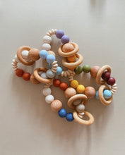 Load image into Gallery viewer, SOLEIL | Silicone + Wood Teether Rattle