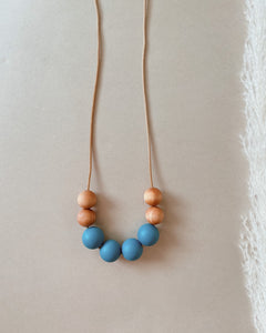 VIBRANT | Silicone + Wood Necklace