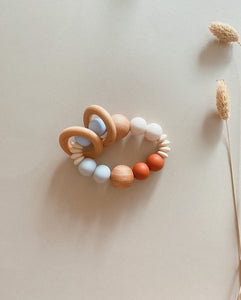 SOLEIL | Silicone + Wood Teether Rattle
