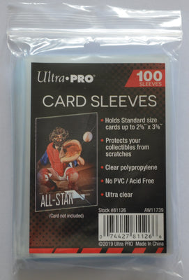 Ultra Pro Sleeves - Pack of 100