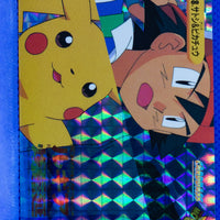 Bandai 1999 Anime Movie 038 Ash & Pikachu Prism Holo