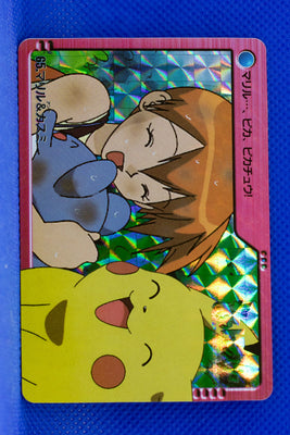 Bandai 2000 Anime Series 065 Misty, Marill & Pikachu Prism Holo