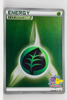 221/BW-P Grass Energy Battle Carnival Spring 2013: 1 PokéCard Point Prize Holo