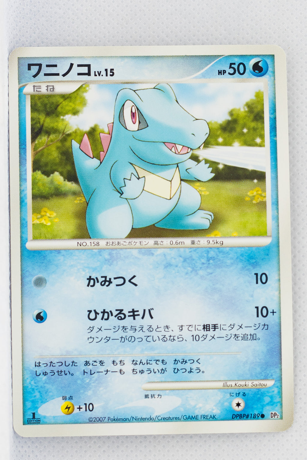 DP2 Secret of the Lakes Totodile 1st Edition
