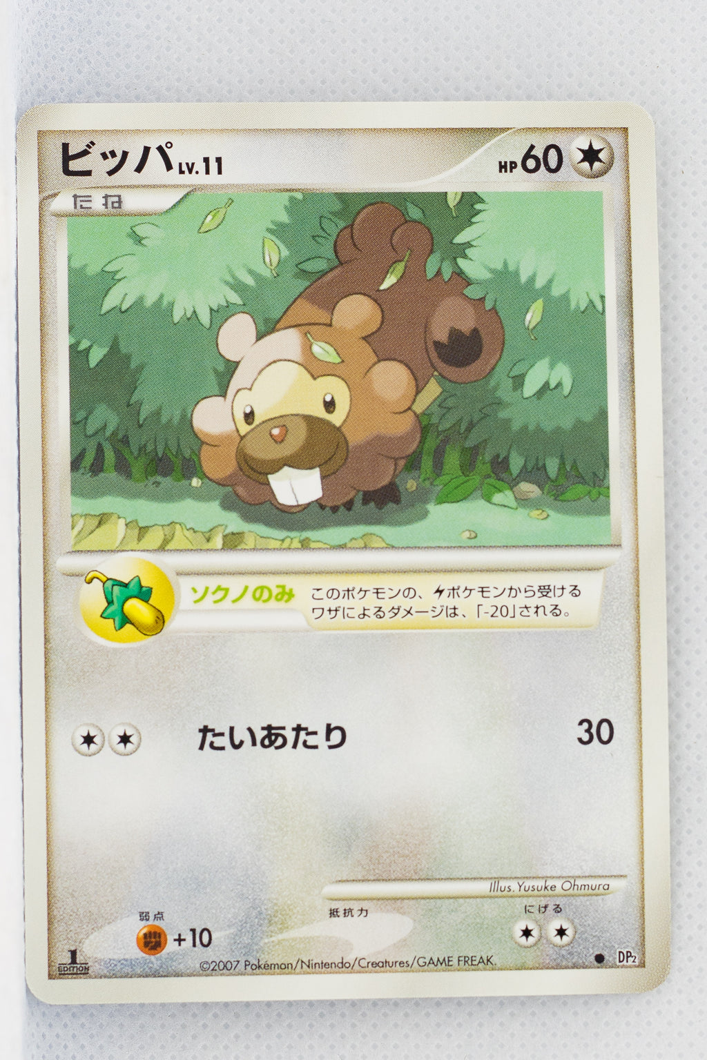 DP2 Secret of the Lakes Bidoof 1st Edition