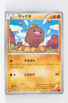 XY1 Collection Y 029/060 Diglett 1st Edition