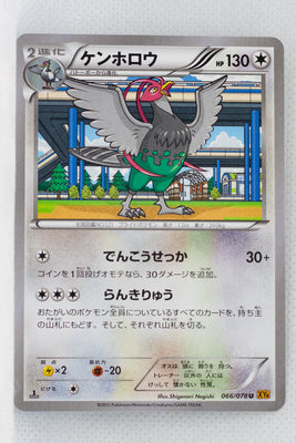 XY6 Emerald Break 066/078 Unfezant 1st Edition