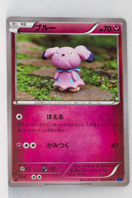 XY8 Blue Shock 038/059	Snubbull 1st Edition