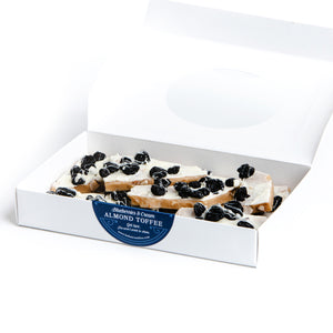 Blueberries & Cream Almond Toffee
