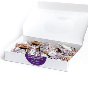 Huckleberry White Chocolate Almond Toffee