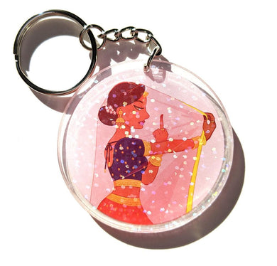 Keychain: Tough Kuri (Holographic sparkle)