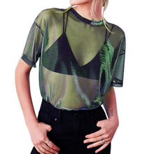 Load image into Gallery viewer, Blusa transparente fajada ($MXN)
