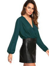 Load image into Gallery viewer, Blusa verde tipo body
