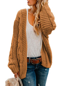 Cardigan color mostaza