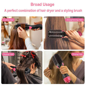 Hair Dryer Brush Hot Air Brush One-Step Hair Dryer and Volumizer,Air Hair Brush 3-in-1 Electric,Curler and Straightener for All Hair Types