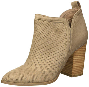Madden Girl Miragee - Botas de Tobillo para Mujer, Gris Topo (Taupe Fabric), 10 M US