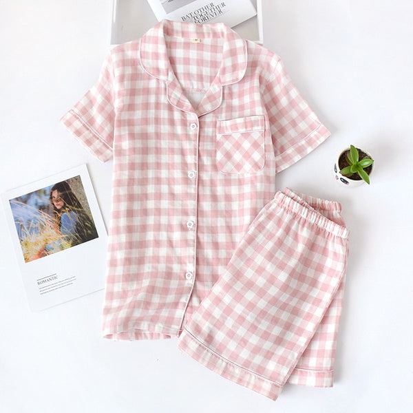 Japanese simple short pajamas