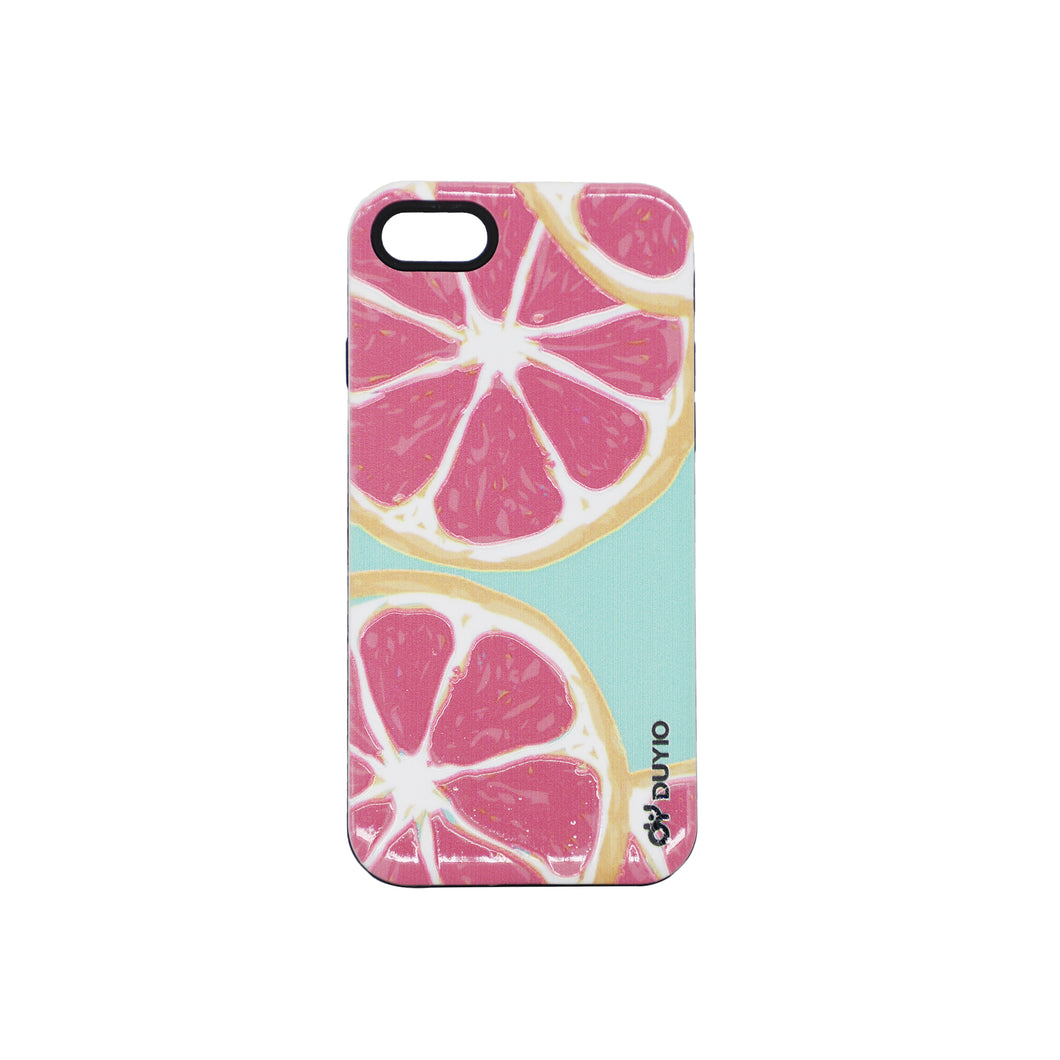 3D Lemon Design Bright Oil Embossed Mobile Phone Case