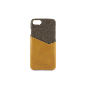 Yellow PU Leather Mobile Phone Case with Card Slots