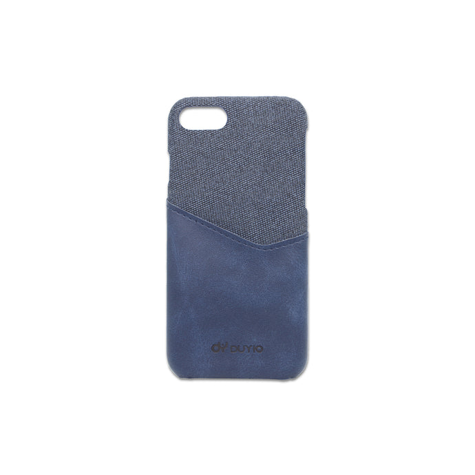 Blue PU Leather Mobile Phone Case with Card Slots