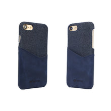 Load image into Gallery viewer, Blue PU Leather Mobile Phone Case with Card Slots