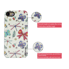 Load image into Gallery viewer, 3D Dragonfly & Butterfly Design Bright Oil Embossed Mobile Phone Case