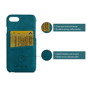 PU Leather Phone Case with Double Cross-type Card Slots