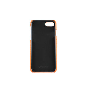 Orange PU Leather Mobile Phone Case with Double Card Slots