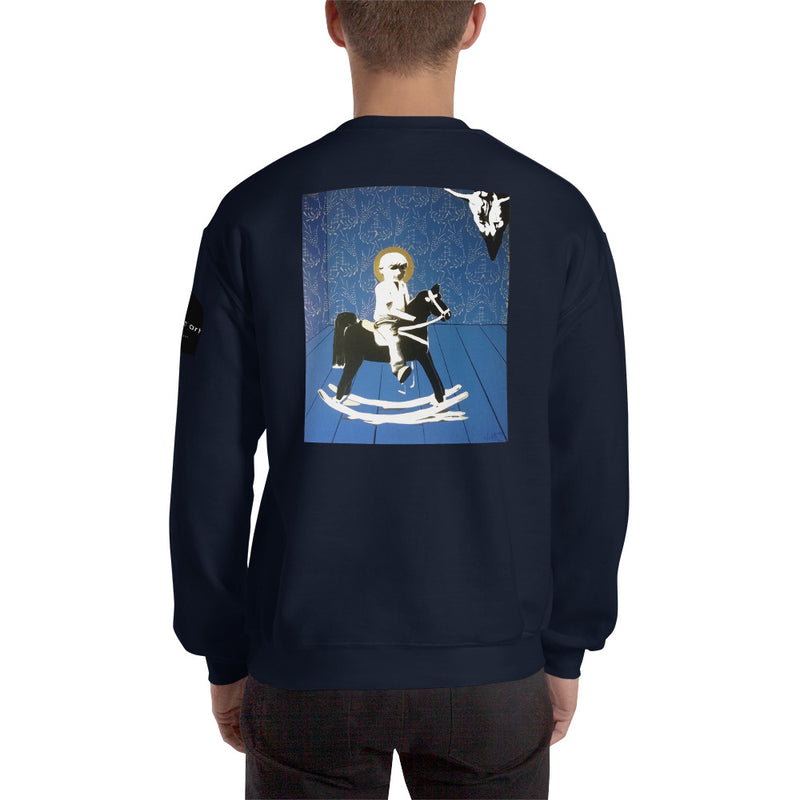 Sweatshirt - Wood Horse by Szymon K - we wear art