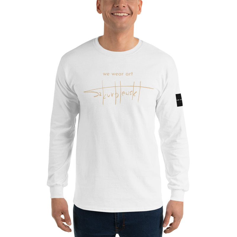 Long Sleeve T-Shirt - Wood Horse by Szymon K - we wear art