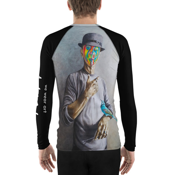 Men's Rash Guard - Selfie by Avichai C - we wear art