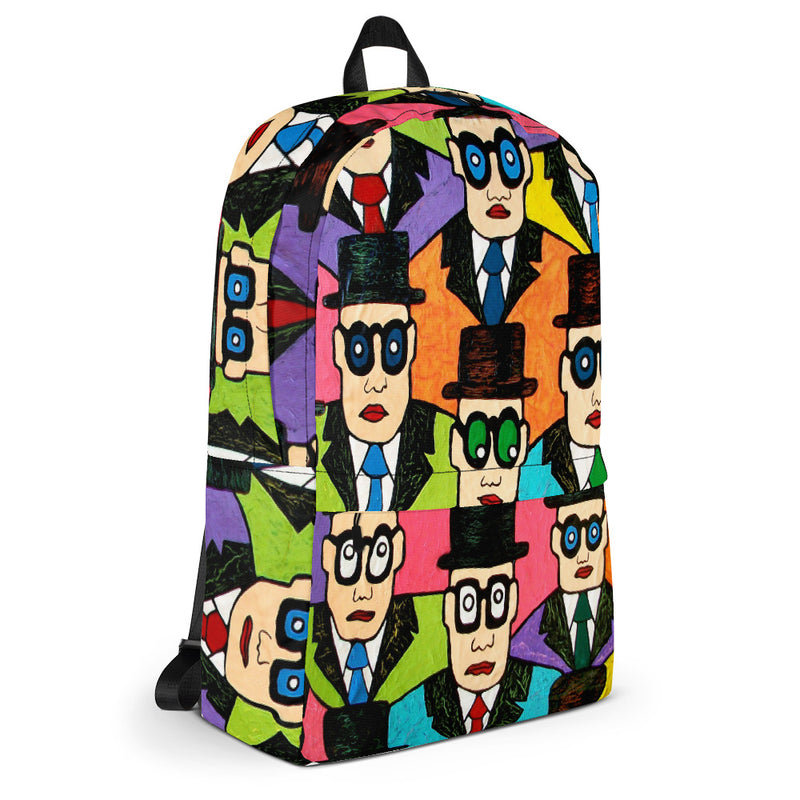 Backpack - Faces by Vlado V - we wear art