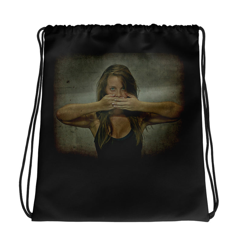 Drawstring bag - Say It ! by Eldad P - we wear art