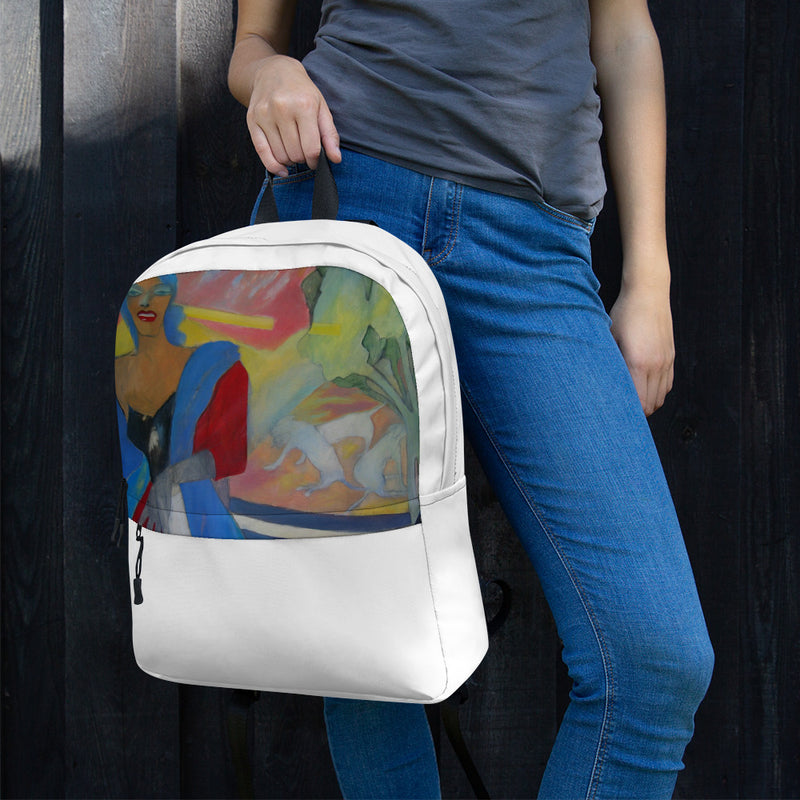 Backpack - The Lady by Ariela W - we wear art