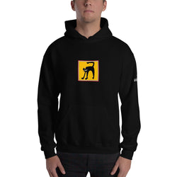 Hooded Sweatshirt - Black Cat by RL - we wear art
