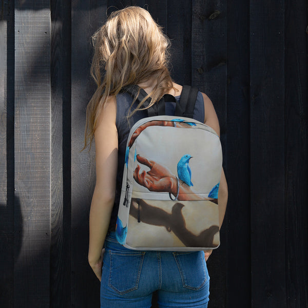 Backpack - Blue Birds By Avichai C - we wear art