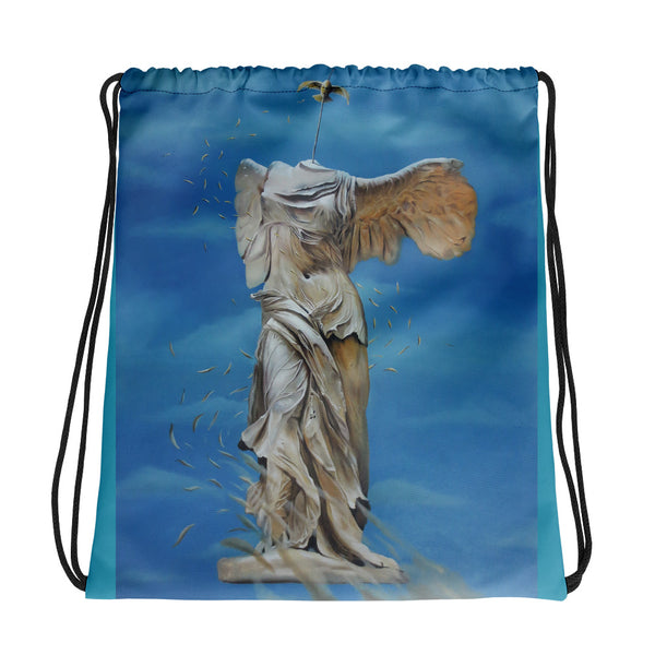 Drawstring bag - Lost Angel by Avichai C - we wear art
