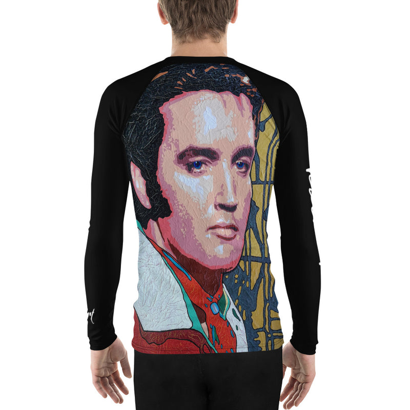 Men's Rash Guard - Elvis by Vlado V - we wear art