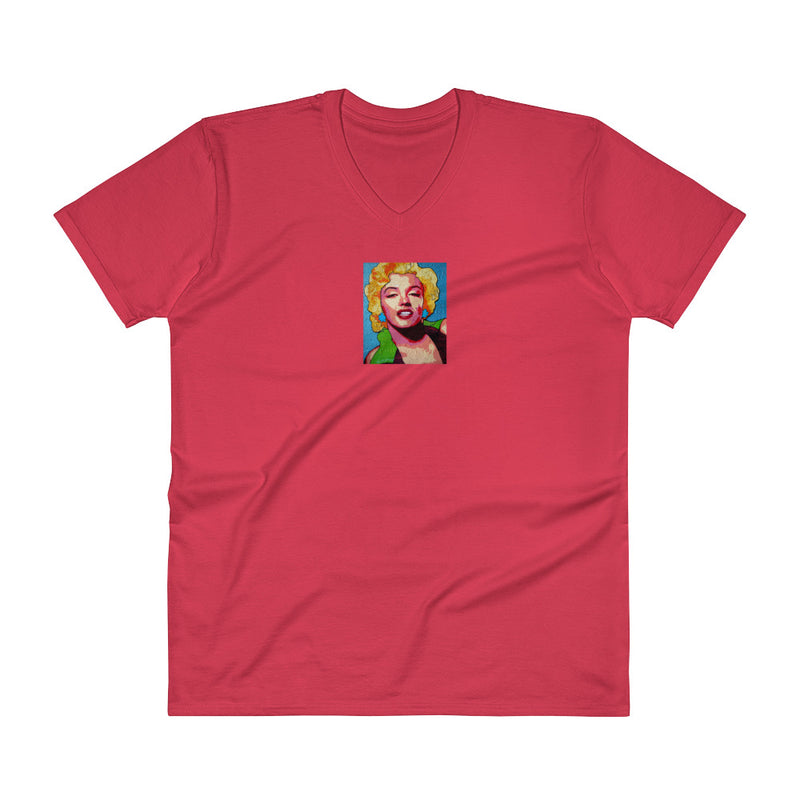 V-Neck T-Shirt - Marilyn M by Vlado V - we wear art