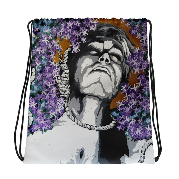 Drawstring bag - Purple Rain by Szymon K - we wear art