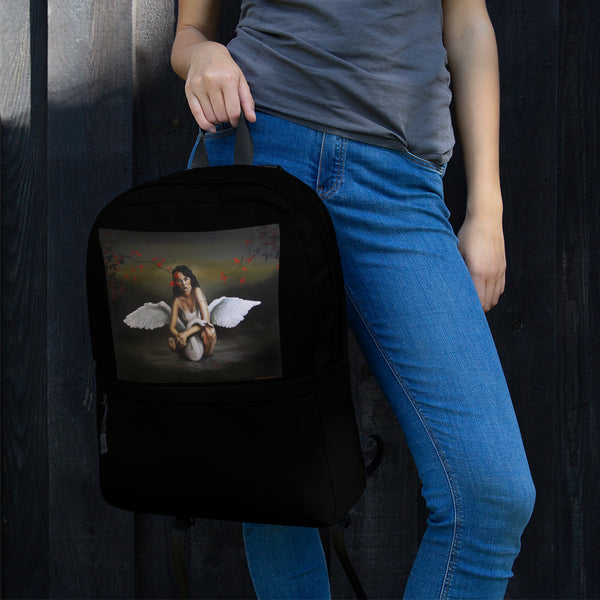 Backpack - Angel Waits by Avichai C - we wear art