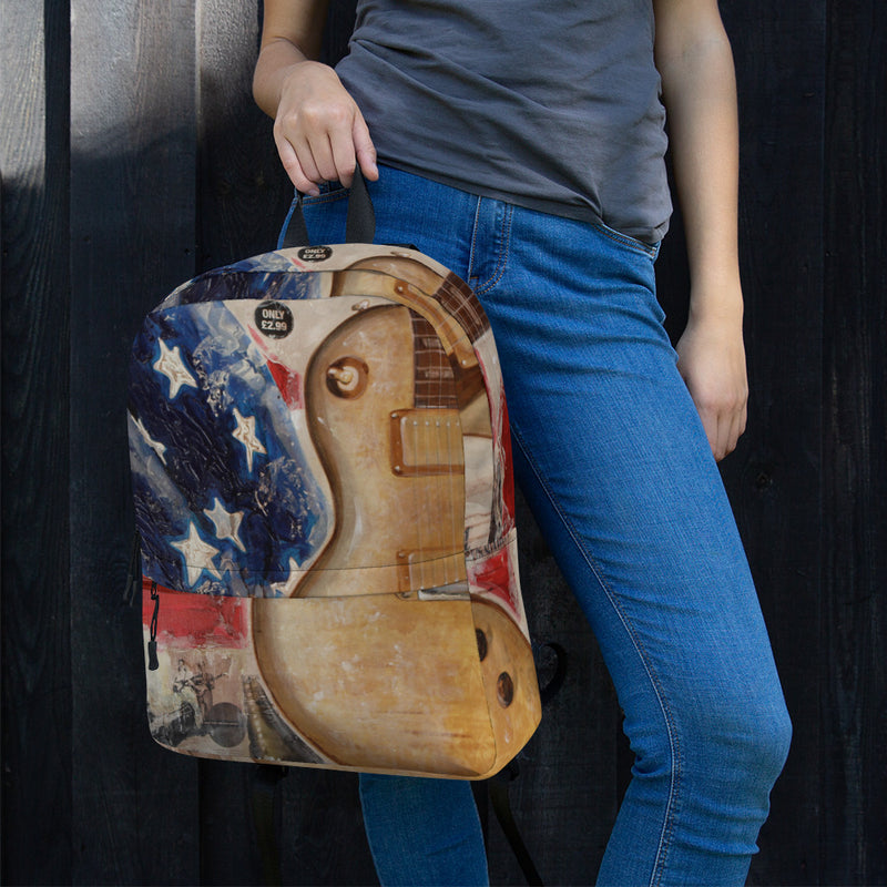 Backpack - Guitar by Eric B - we wear art