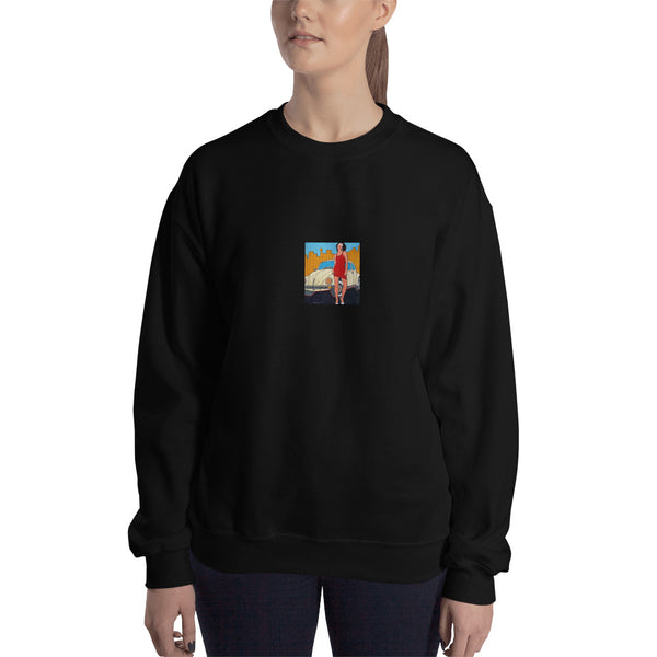Sweatshirt - VW Girl by Vlado V - we wear art