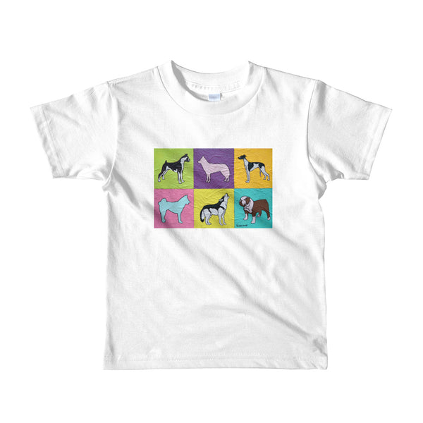 Short sleeve kids t-shirt - Dogs by Vlado V - we wear art