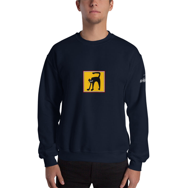 Sweatshirt - Black Cat by RL - we wear art