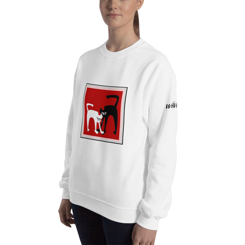 Sweatshirt - B&W cats by RL - we wear art
