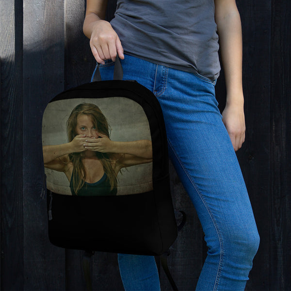 Backpack - Say it ! by Eldad P - we wear art