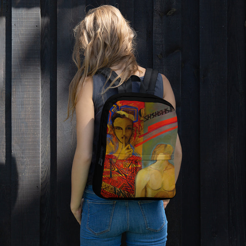 Backpack - Shshshsa by Ariela W - we wear art